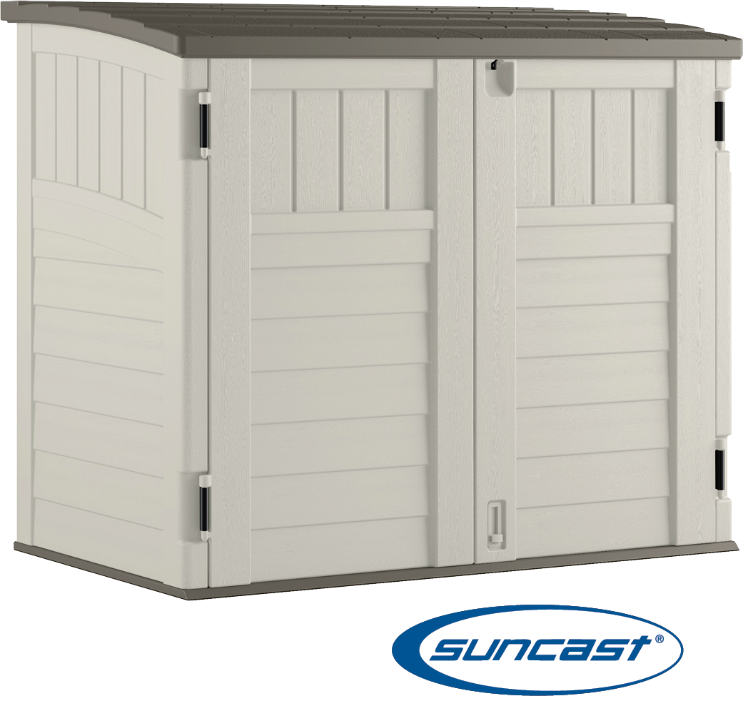 $229.99 - 34 Cu. Ft. Horizontal Shed. Durable, multi-wall resin construction allows for year-round use & easy maintenance. No. BMS2500 (100122)