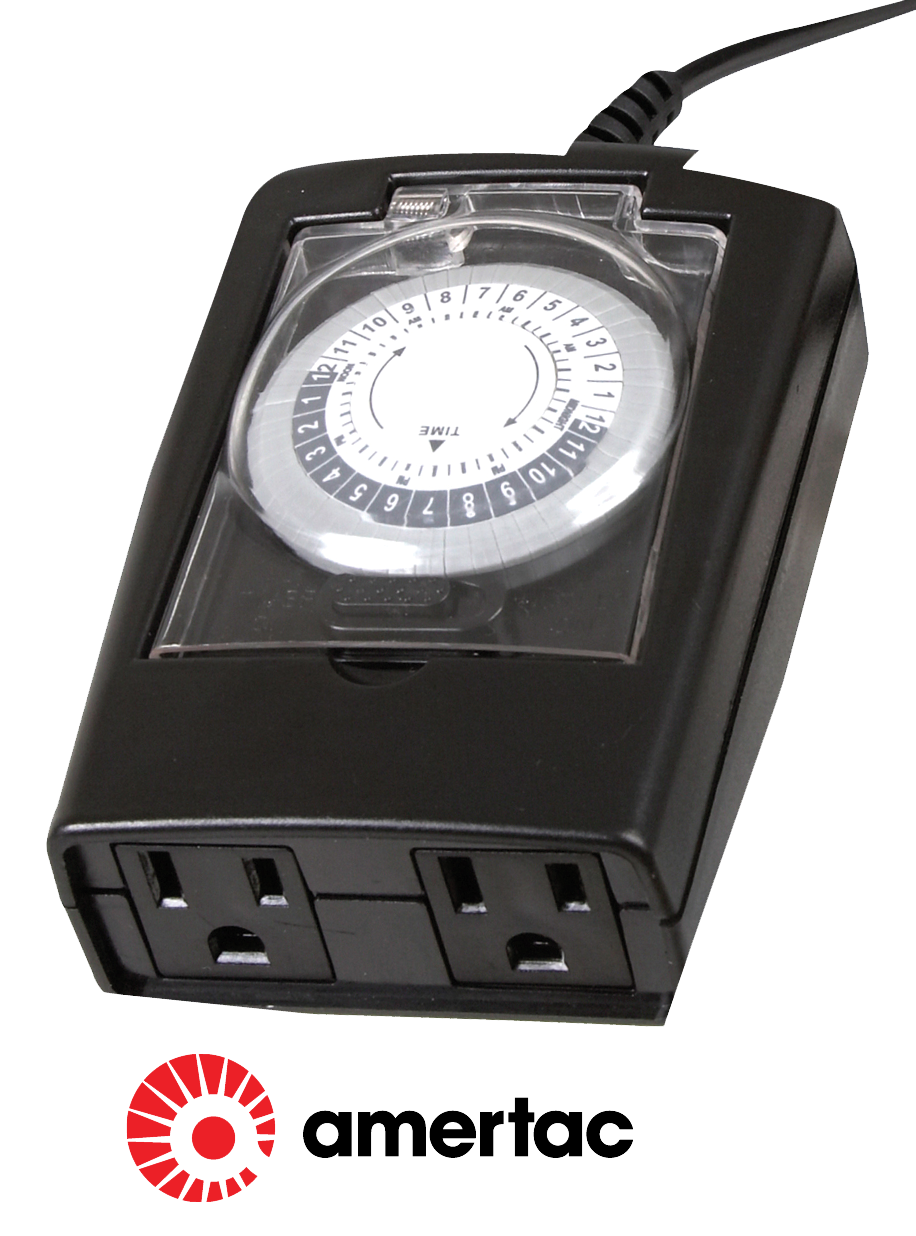 $12.99 -  Outdoor Timer - 2 outlet. Rain tight cover.  No. TM1613DOLB (639245)
