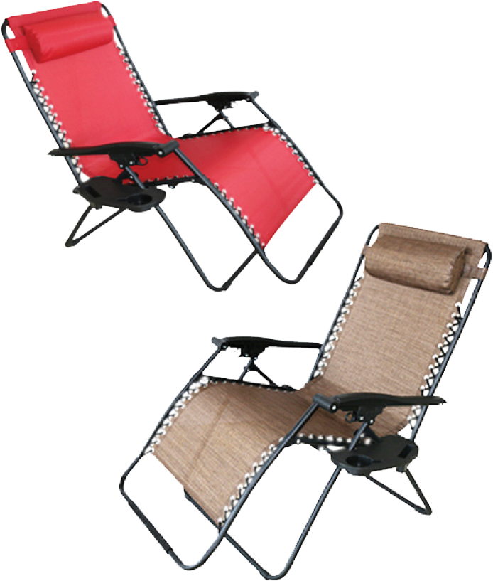 $49.99 each - Gravity Chair - Extra large, steel zero gravity chair with double bungee cord stability, e-coated for rust protection. 350 Lb. Capacity. (716581/582)