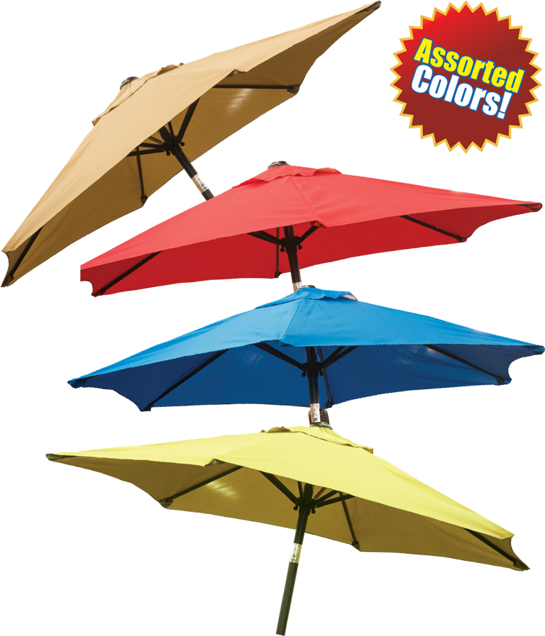 $34.99 each - 6.5' Steel Crank Umbrella - Choose from red, canary, melon, royal & khaki. (729636/637)