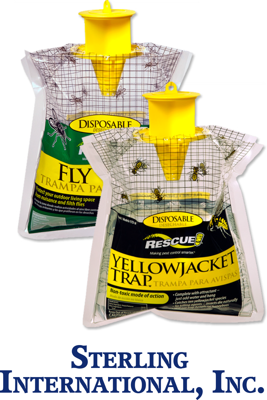 $4.99 each - Rescue!® Disposable Fly or Yellow Jacket Trap - Just add water & hang. Attractant enclosed-no mess. Completely disposable.