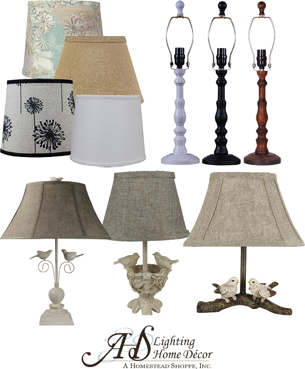 15% OFF ALL AMERICAN HOMESTEAD SHOPPE LAMPS & SHADES Nice selection to choose from.