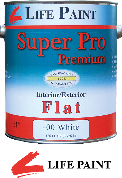 $23.99   1 Gal. Super Pro Premium Interior/Exterior Flat Wall Paint.  Can be color matched to any color. Water clean up.