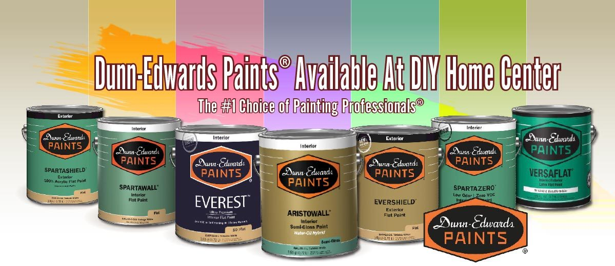 Dunn-Edwards paints available at DIY Home Centers