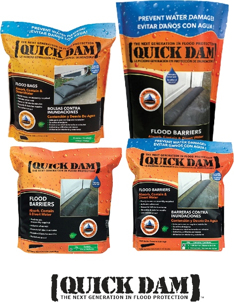 """10% Off Quick Dam™ Flood Barrier- Self activating, just get it wet. Grows to 3.5"""" high in 10 minutes. No need for sand. (111176-80)"""