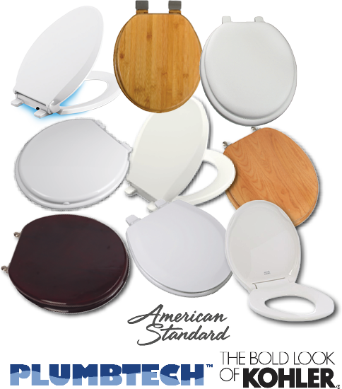 15% Off ALL TOILET SEATS Large selection from Kohler, American Standard & PlumbtechWeb